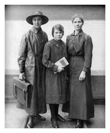 Three office workers employed during war